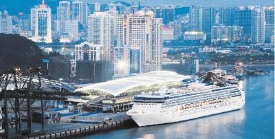 祖国/厦门港邮轮码头。