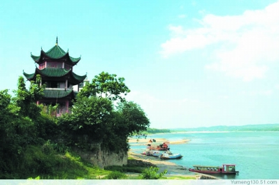 沅江最美风景的照片