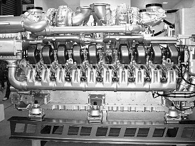 船用发动机图片_MAN柴油18缸船用发动机MODTOY中国最大