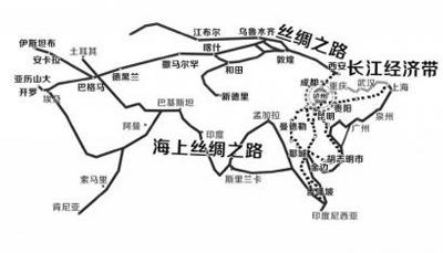 西安一带一路地图
